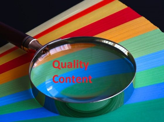 Benefits of quality content