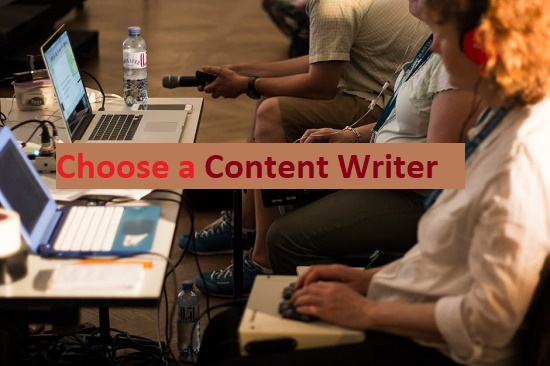 Choose a perfect content writer India