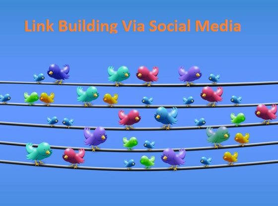 link building via social media channels