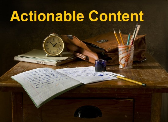 Write Actionable and Readable Content
