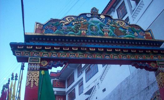 darjeeling monastery writing