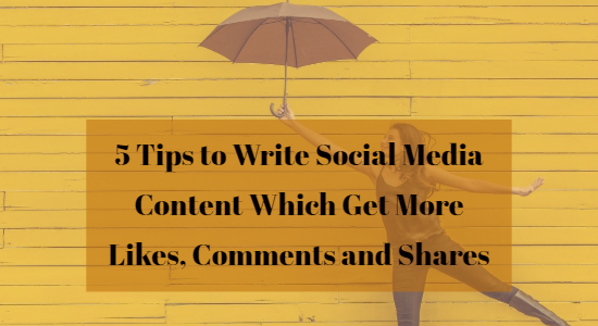 Writing content for Social Media