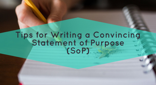 Tips for Writing an SOP