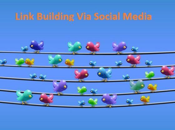 link building via social media channels