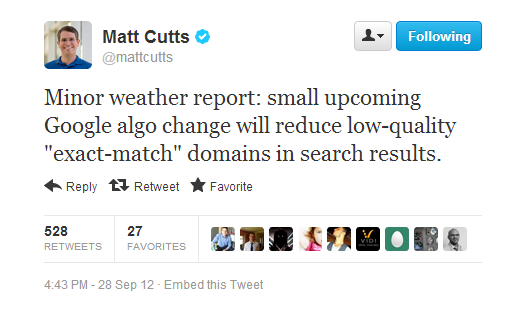 EMD by Matt Cutts