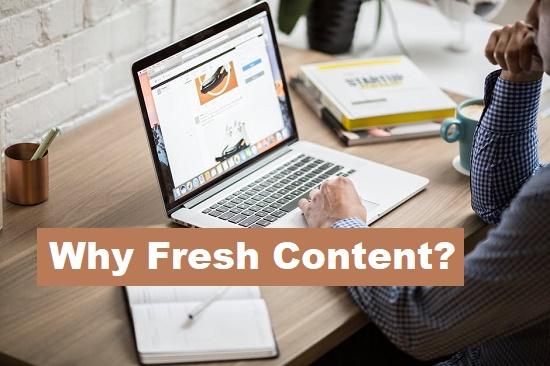 Fresh Contents Boost SEO