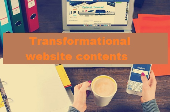 transformational website contents