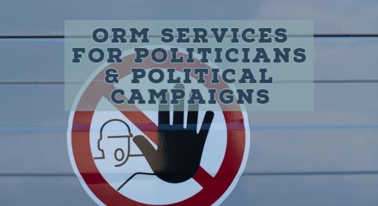 ORM services for Politicians, Political Parties & Political Campaigns